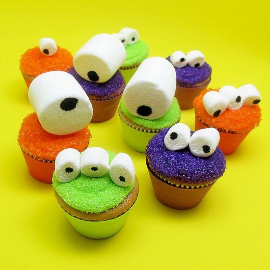 mini monster cupcakes