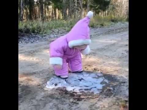 Cute baby falls - YouTube