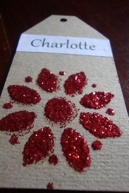 """Lovely handmade gift tag ("""",)"""