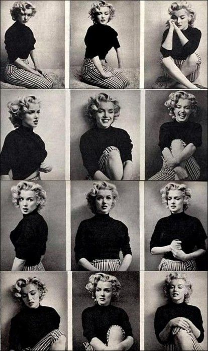 Marilyn Monroe. I love this who shoot, she is so relaxed and vulnerable, v natural looking.