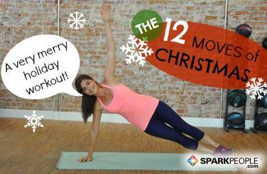 Check out the 12 Moves of Christmas Workout! This cardio and strength circuit routine will help you keep those holiday pounds at bay.
