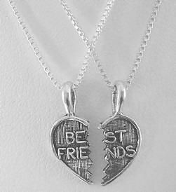 Best Friend Necklace.... had this too....