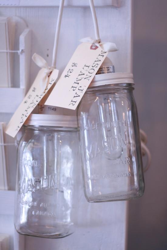 Mason Jar Lamps - @ Brick & Mortar Living $24