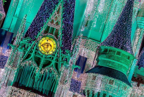 Cinderella Castle winter lights