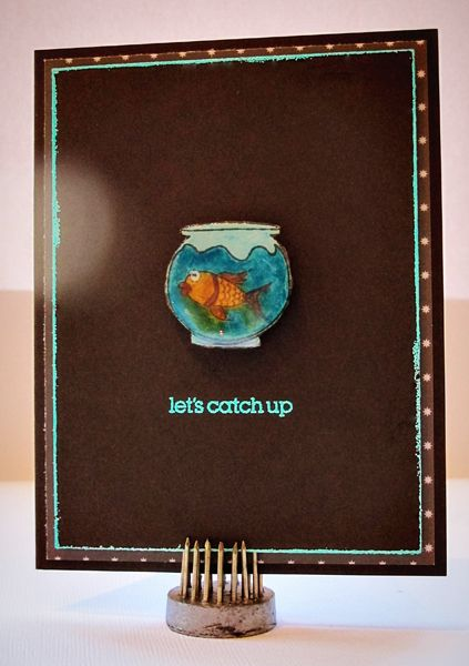 Handmade Card: Let's Catch Up