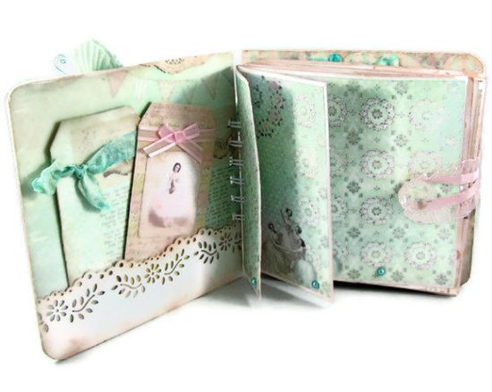 Scrapbook Mini Album Romantic Valentine by SapphireNoteables