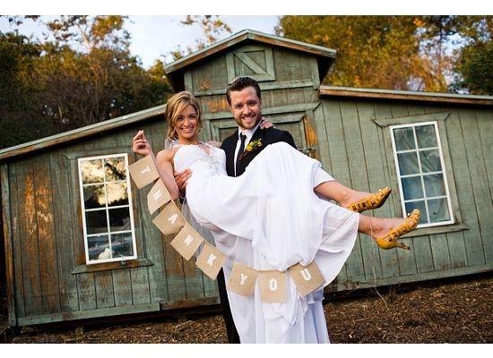 Thank you Wedding Photo