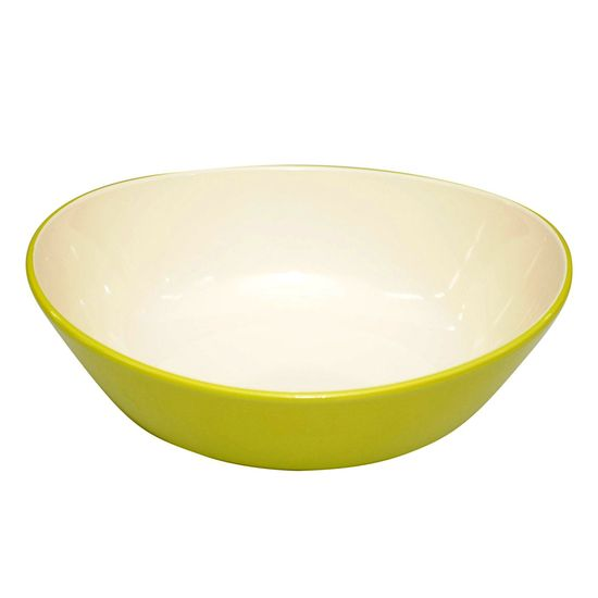 Modern Green Lightweight Oval Bowl #green #kitchen #yum dotandbo.com
