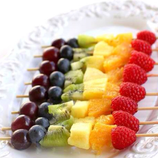 Fruit skewers. . .so quick and easy!