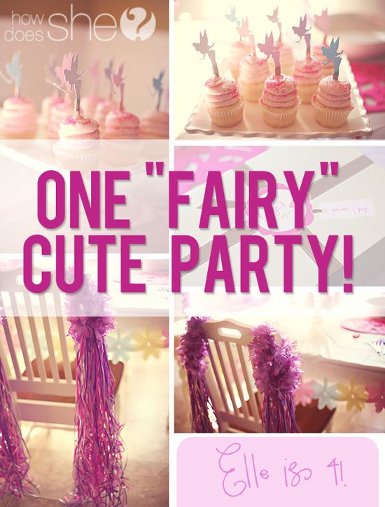 One Fairy Cute Party! Lots of cute Fairy party ideas: decor, treats, activities and more!