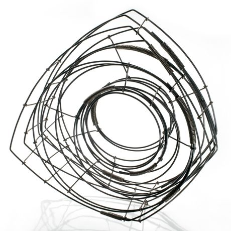 Donna D'Aquino wire bracelet n°88 - steel - 6inch high & 7inch wide