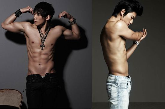 What's your style? Gym Rat Style - Rain and Taecyeon. AHHH BOTH HOT!!!! TIE