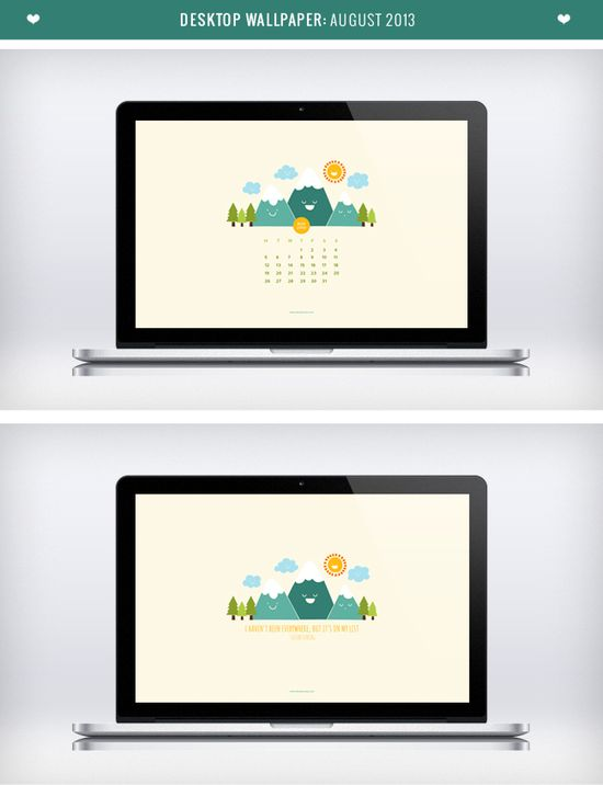 Free Downloadable August Desktop Wallpaper Calendar by Design is Yay