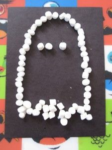Mini marshmallow ghost - Re-pinned by #PediaStaff.  Visit ht.ly/63sNt for all our pediatric therapy pins