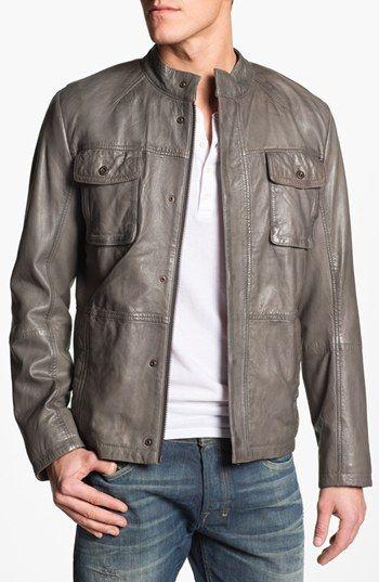 BOSS leather jacket.