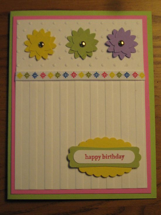 Birthday or Thinking of You Handmade Card Sister Daughter Friend Mom wife girlfriend Stampin Up card. $3.49, via Etsy.