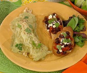 Ingrid Hoffman's Enchiladas Suizas! #recipes #cooking #latin