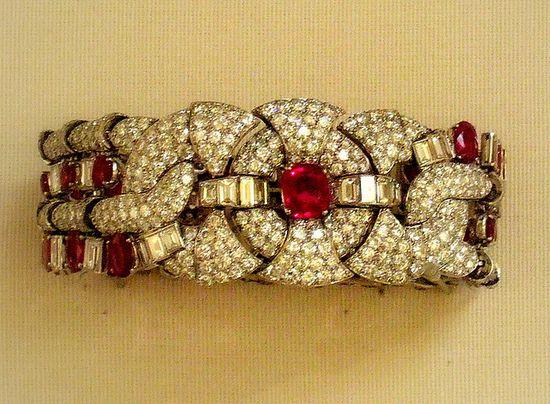 Ruby and diamond bracelet, British Museum  European around 1930