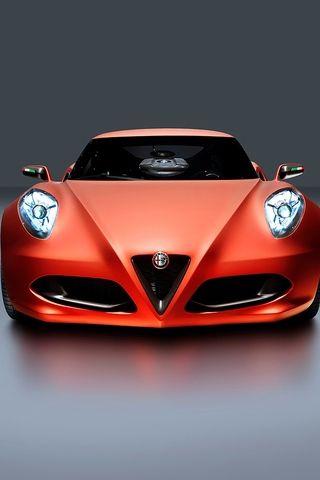 Alfa Romeo 4C red car