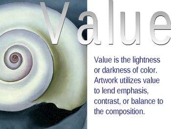 Elements Of Art Value Worksheets