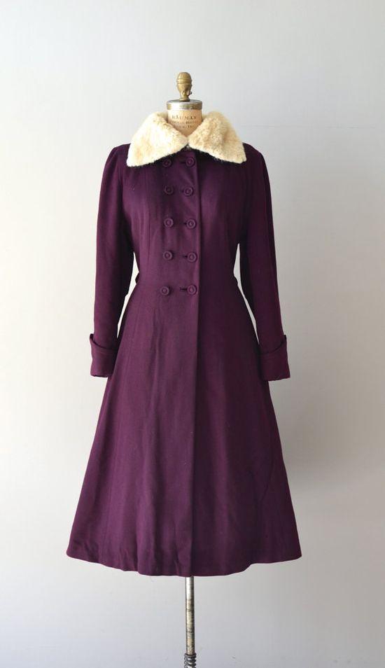 1940s wool princess coat
