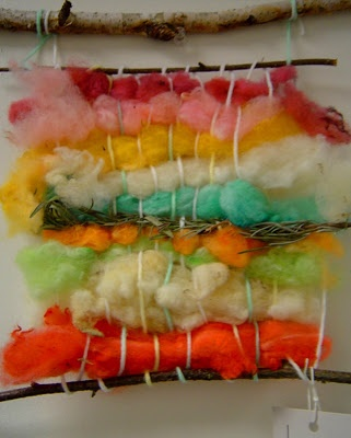 Dying and knitting wool roving from: I Love Kid Art!