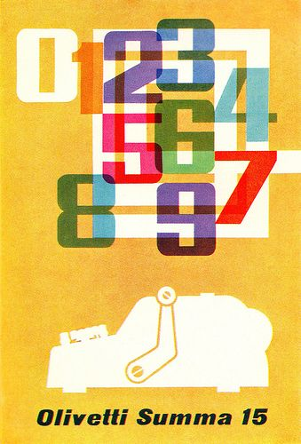 poster for Olivetti Summa 15 adding machine - F.H.K. Henrion, 1962
