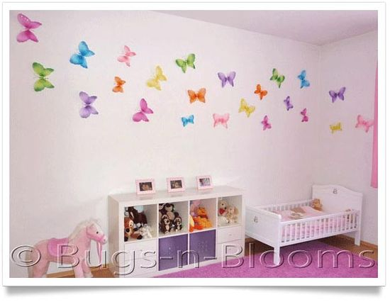 Butterfly wall decal.  Pinned for Kidfolio, the parenting mobile app that makes sharing a snap