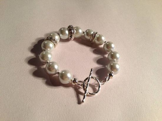 Pearl Bracelet Wedding Jewelry Bride Jewellery by cdjali on Etsy, $25.00