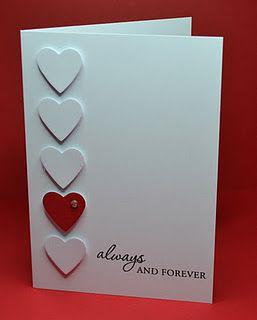 clean & simple valentine card...
