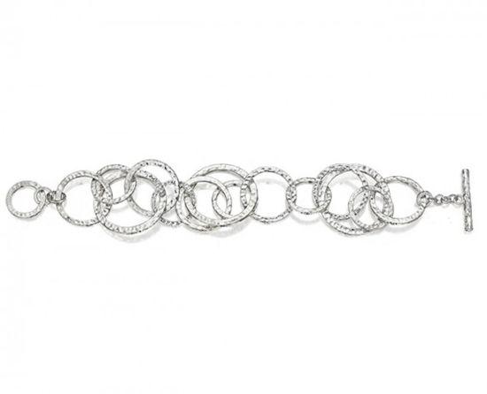 Hammered Swirl Bracelet