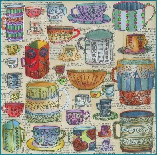 sketch book assignment - cups or dishes in general