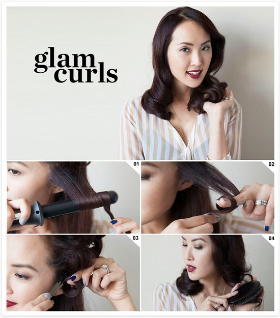 How to create glamorous curls