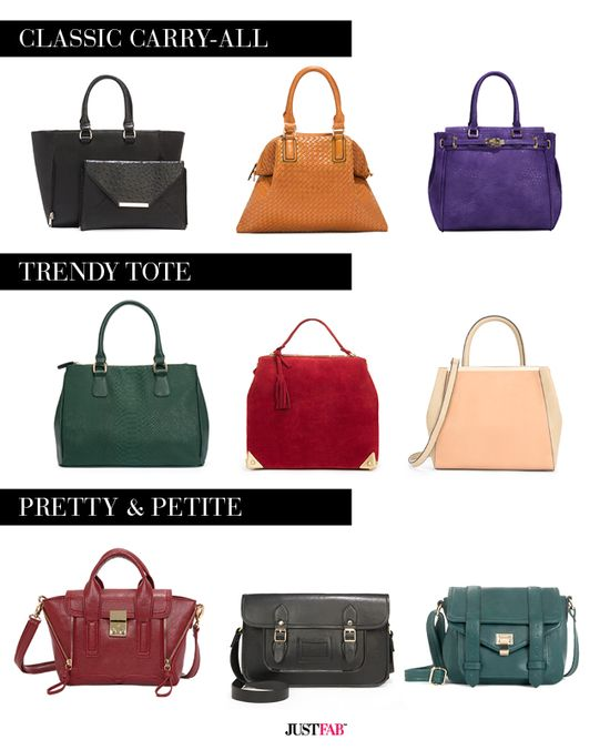 9 essential handbags for fall. What's your signature style?