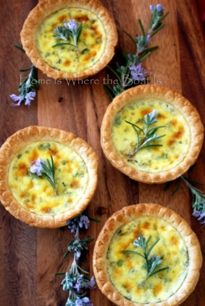 Goat Cheese Tarts.