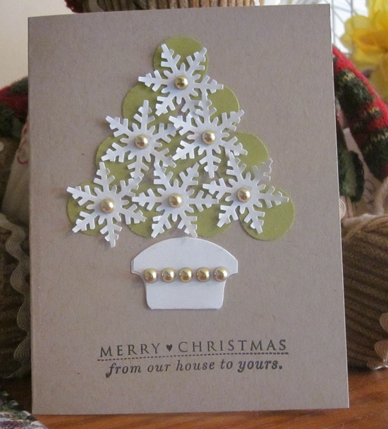 Handmade Christmas cards --a family tradition.
