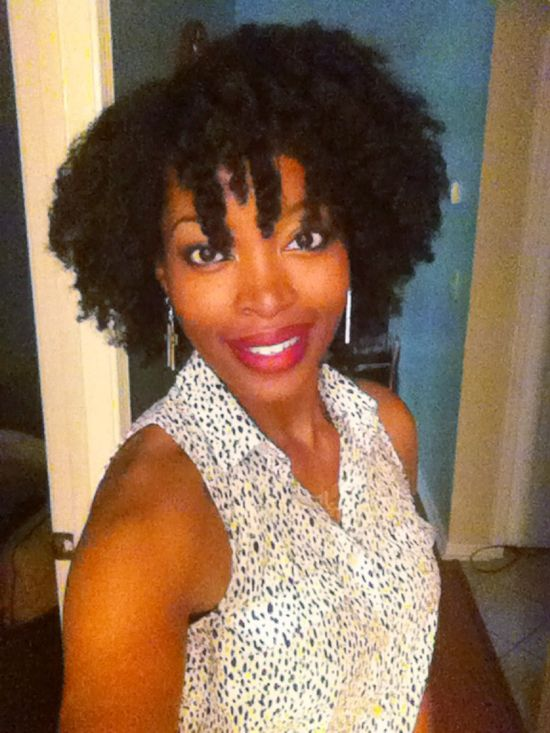 Twist out: natural hair style