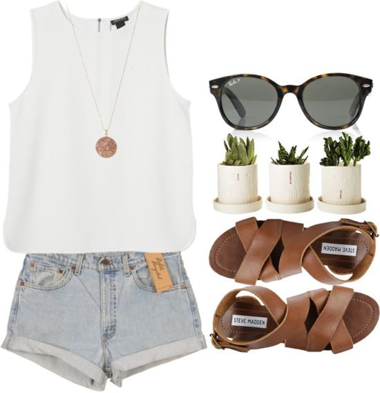 cute summer outift - I don't understand the plants though