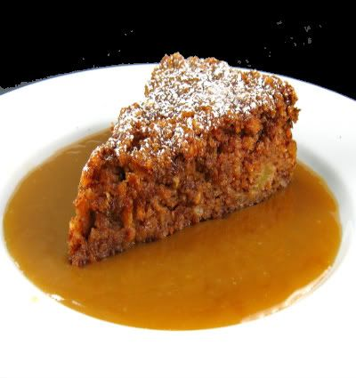 Warm Apple Pudding with Hot Caramel Sauce