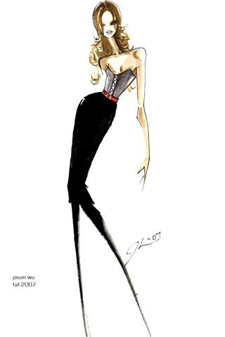 © jason wu.  fashion illustration