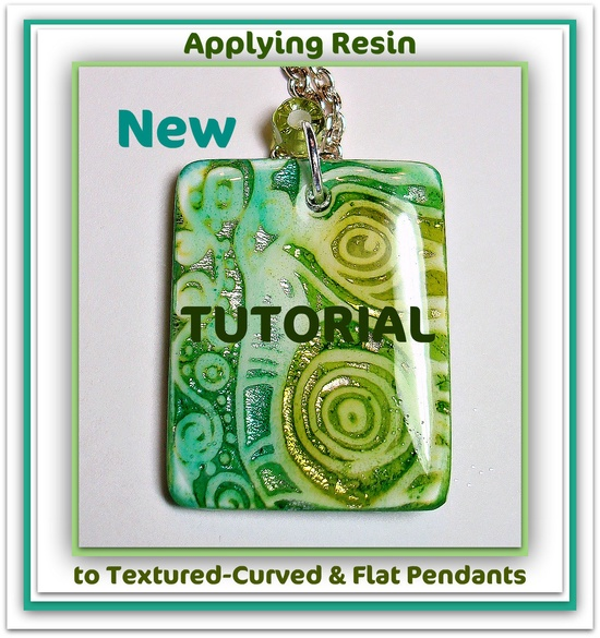How to Apply:  Resin on raised texture, curved, & flat pendant surfaces...Tutorial available in my Etsy Shop
