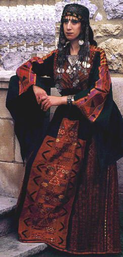 A bridal dress from Hebron, Palestine.