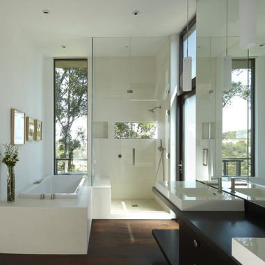 Bathroom Design #Remodel with Multiple Window Additions. - remodelworks.com