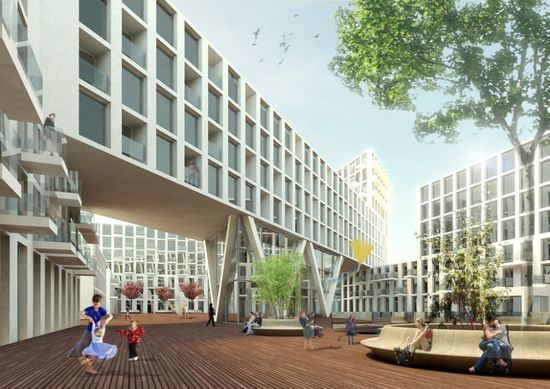 A101 Urban Block Competition / KCAP Architects & Planners and NEXT Architects