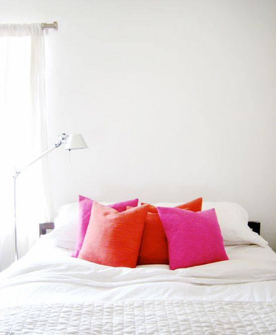 Bright Pillows on White