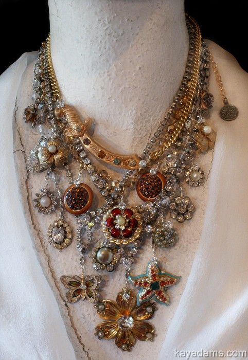 Using old jewelry and new.