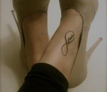 "Infinity ""Love"" tattoo"