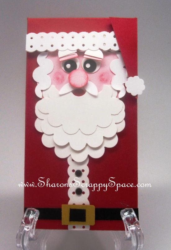 using stampin Up! punches to make this cute Santa card
