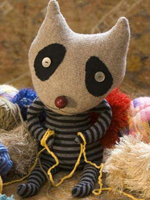 Make your own Misfit stuffed animal - super cute and pretty easy - made from old t-shirts and sweaters.