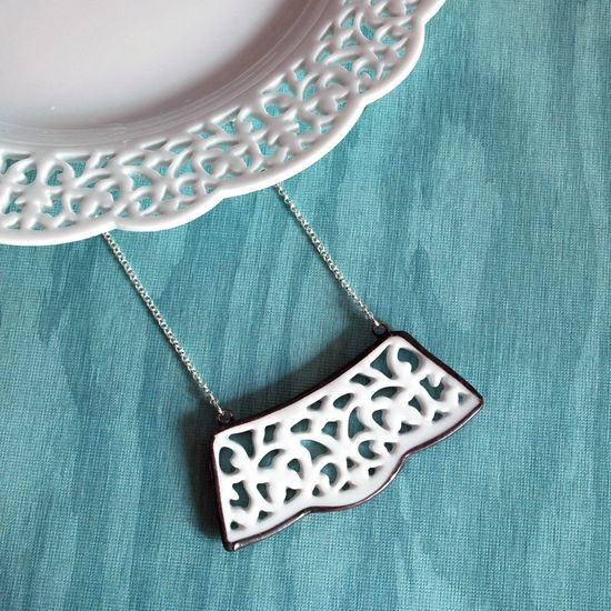 Jewelry from broken china! Love this!